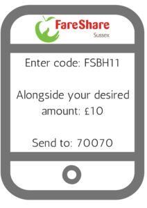 Enter code- FSBH11Alongside your desired amount- £10Send to- 70070 (1)