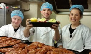 Residents at the Amber Foundation cooking up a treat with FareShare food.